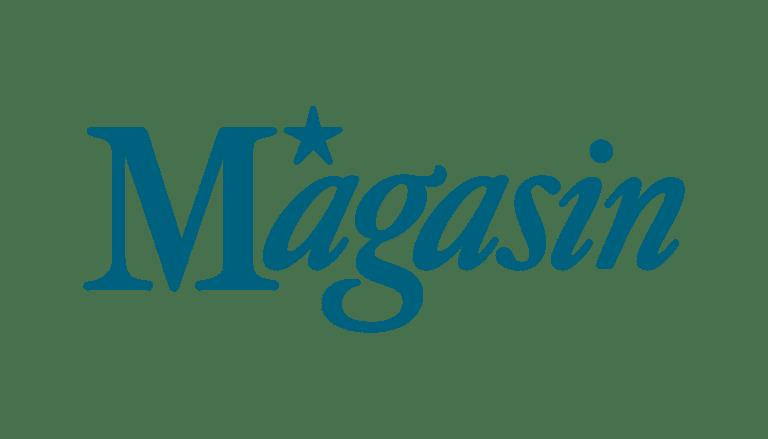 Magasin logo i blå