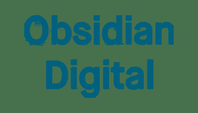 Obidian Digital logo i blå