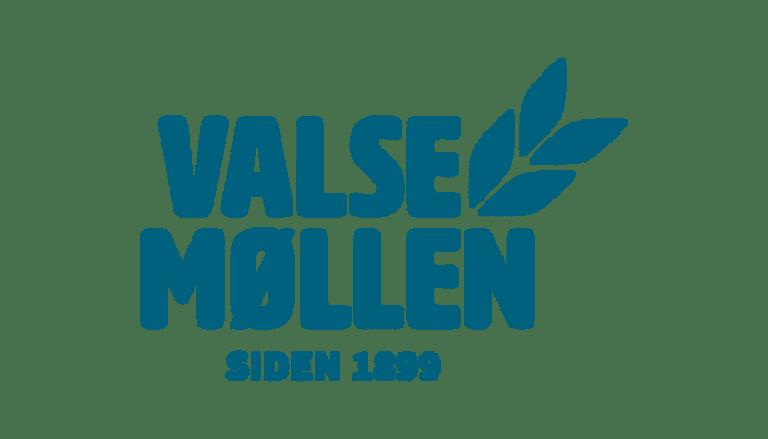 Valsemøllen Logo i blå